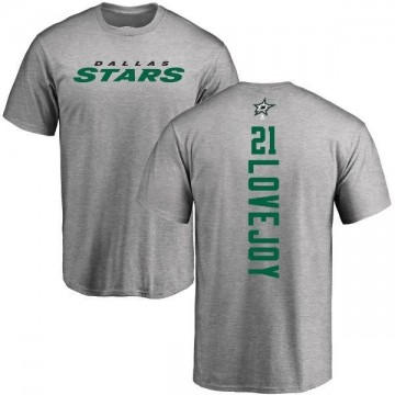 Men's Ben Lovejoy Dallas Stars Backer T-Shirt - Ash
