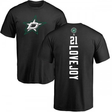 Men's Ben Lovejoy Dallas Stars Backer T-Shirt - Black
