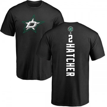 Men's Derian Hatcher Dallas Stars Backer T-Shirt - Black