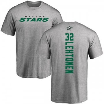 Men's Kari Lehtonen Dallas Stars Backer T-Shirt - Ash