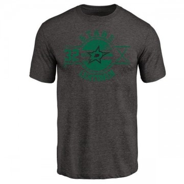 Men's Kari Lehtonen Dallas Stars Insignia Tri-Blend T-Shirt - Black
