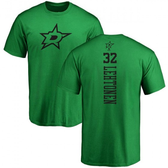 Men's Kari Lehtonen Dallas Stars One Color Backer T-Shirt - Kelly Green