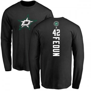 Men's Taylor Fedun Dallas Stars Backer Long Sleeve T-Shirt - Black