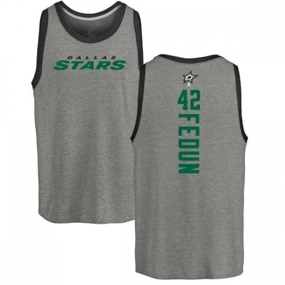 Men's Taylor Fedun Dallas Stars Backer Tri-Blend Tank Top - Ash