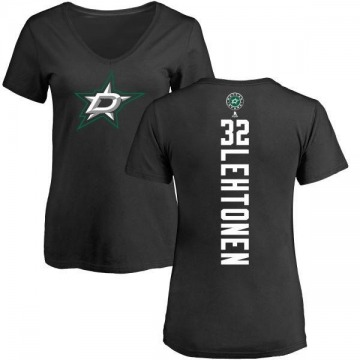 Women's Kari Lehtonen Dallas Stars Backer T-Shirt - Black