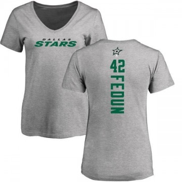 Women's Taylor Fedun Dallas Stars Backer T-Shirt - Ash