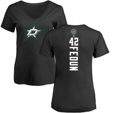 Women's Taylor Fedun Dallas Stars Backer T-Shirt - Black