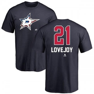 Youth Ben Lovejoy Dallas Stars Name and Number Banner Wave T-Shirt - Navy