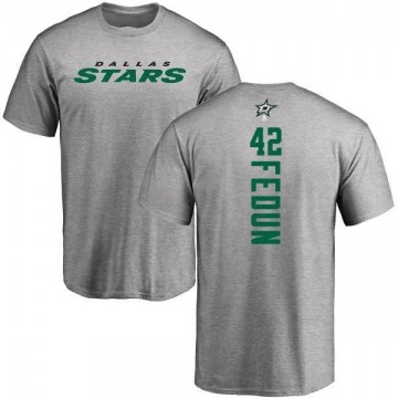 Youth Taylor Fedun Dallas Stars Backer T-Shirt - Ash
